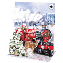 Pop-Up Sight 'n Sound Christmas Card by Popshots Studios - Santa's Express Barcode:  048641341113 www.the-village-square.com
