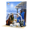 Pop-Up Sight 'n Sound Christmas Card by Popshots Studios - Nativity Barcode:  048641304569 www.the-village-square.com