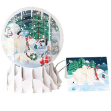 Pop-Up Christmas  Small Snow Globe by Popshots Studios - Arctic Animal Christmas Barcode: 048641315312 www.the-village-square.com
