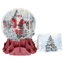 Pop-Up Christmas  Small Snow Globe by Popshots Studios - Jolly Santa Barcode: 048641568053 www.the-village-square.com