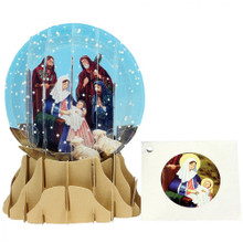 Pop-Up Christmas  Small Snow Globe by Popshots Studios - Nativity Barcode: 048641201226 www.the-village-square.com