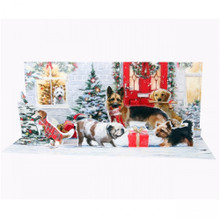 Panoramics  Pop-Up Christmas Card by Popshots Studios - Holiday Dogs Barcode:  048641521959 www.the-village-square.com
