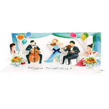 Panoramics with Sound  Pop-Up Greeting Card by Popshots Studios - Classical Music Ensemble Barcode:  048641577053 www.the-village-square.com