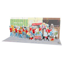 Panoramics with Sound  Pop-Up Greeting Card by Popshots Studios - Marching Band Barcode:  048641545450 www.the-village-square.com