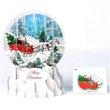 Pop-Up Christmas  Medium Snow Globe by Popshots Studios - Dashing Through the Snow  Barcode: 048641523953 www.the-village-square.com