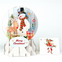 Pop-Up Christmas  Medium Snow Globe by Popshots Studios - Snowman  Barcode: 048641523854 www.the-village-square.com