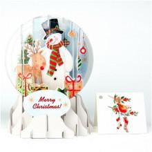 Pop-Up Christmas  Medium Snow Globe by Popshots Studios - Snowman  Barcode: 048641523854 www.the-village-square.com