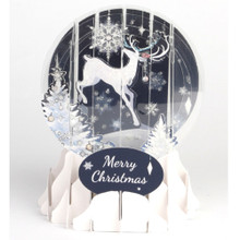 Pop-Up Christmas  Medium Snow Globe by Popshots Studios - Reindeer Silhouette Barcode: 048641562853 www.the-village-square.com