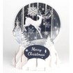 Pop-Up Christmas  Medium Snow Globe by Popshots Studios - Reindeer Silhouette Barcode: 048641562853 www.the-village-square.com