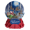 Pop-Up Christmas  Medium Snow Globe by Popshots Studios - Moonlight Sleigh Ride  Barcode: 048641311512 www.the-village-square.com