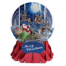 Pop-Up Christmas  Medium Snow Globe by Popshots Studios - Moonlight Sleigh Ride  Barcode: 048641311512 www.the-village-square.com