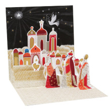 Pop-Up Christmas Card Trearures by Popshots Studios - Three Wise Men Barcode:048641376412 www.the-village-square.com