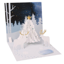 Pop-Up Christmas Card Trearures by Popshots Studios - White Tree Barcode:048641376511 www.the-village-square.com