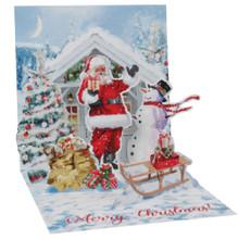 Pop-Up Christmas Card Trearures by Popshots Studios - Santa & Snowman Barcode: 048641376818 www.the-village-square.com