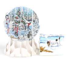 Pop-Up Christmas  Small Snow Globe by Popshots Studios - Village Holiday Barcode: 048641568152 www.the-village-square.com