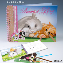 Animal Love Colouring & Sticker Book www.the-village-square.com