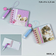 Kitty & Doggy Love note book with miniballpen www.the-village-square.com