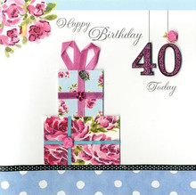 Happy 40 Birthday Card www.the-village-square.com