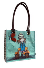 Santoro Gorjuss Large Coated Shopper Bag - The Foxes www.the-village-square.com EAN:  5018997513149 SKU: 291GJ01