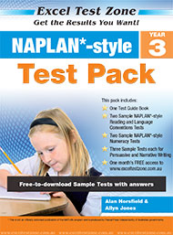 Excel Test Zone Naplan*-style Test Pack Year 3