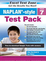 Excel Test Zone NAPLAN*-style Test Pack Year 7