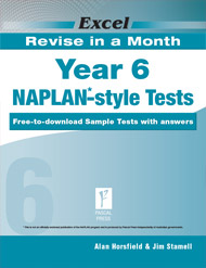 Excel RRevise in a Month NAPLAN*-style Tests Year 6