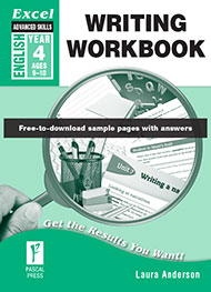 Excel Advanced Skills Writing Workbook Year 4