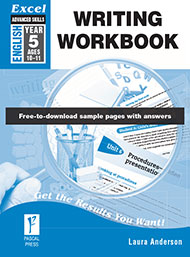 Excel Advanced Skills Writing Workbook Year 5
