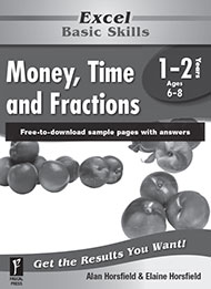 Excel Basic Skills Money, Time and Fractions Years 1-2