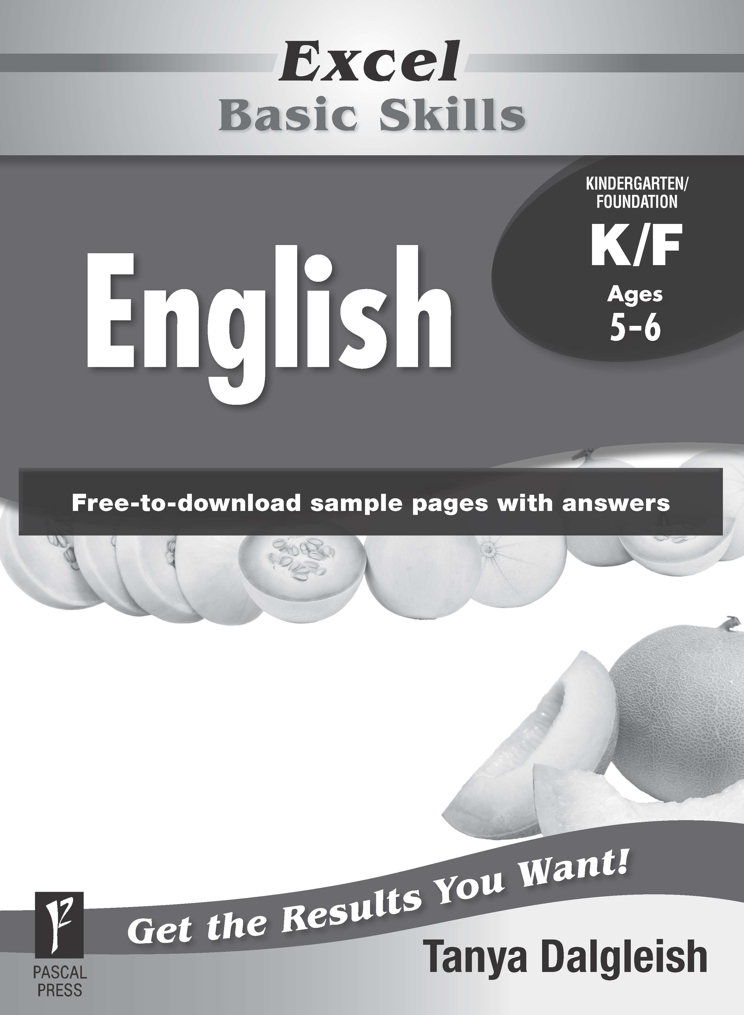 Excel Basic Skills English Kindergarten/Foundation