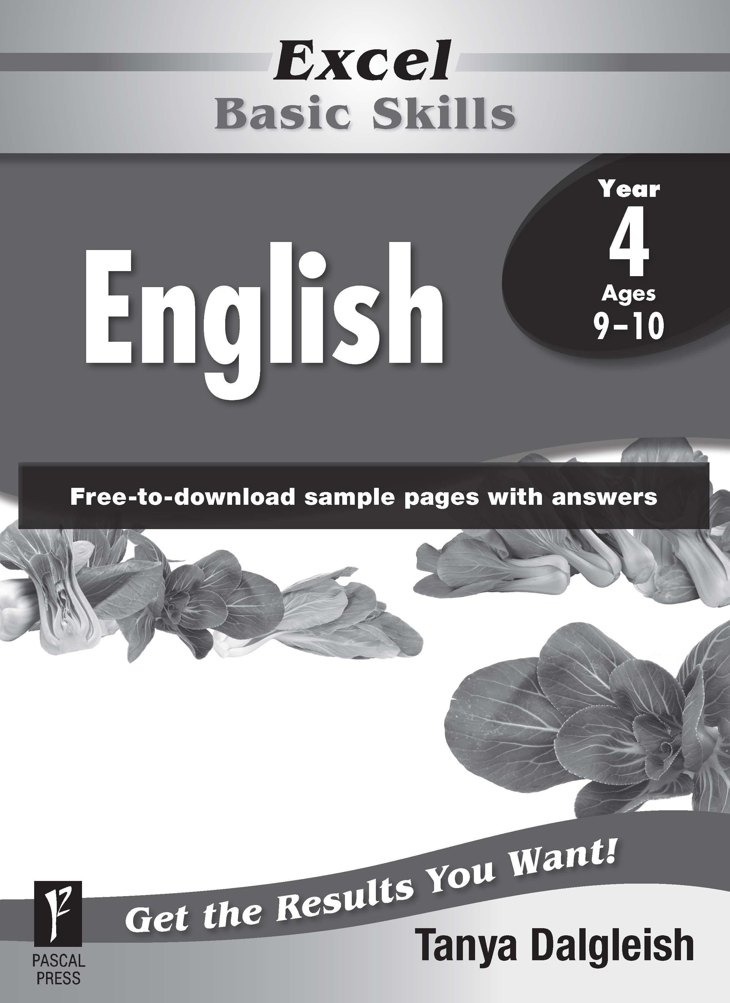 Excel Basic Skills English Year 4