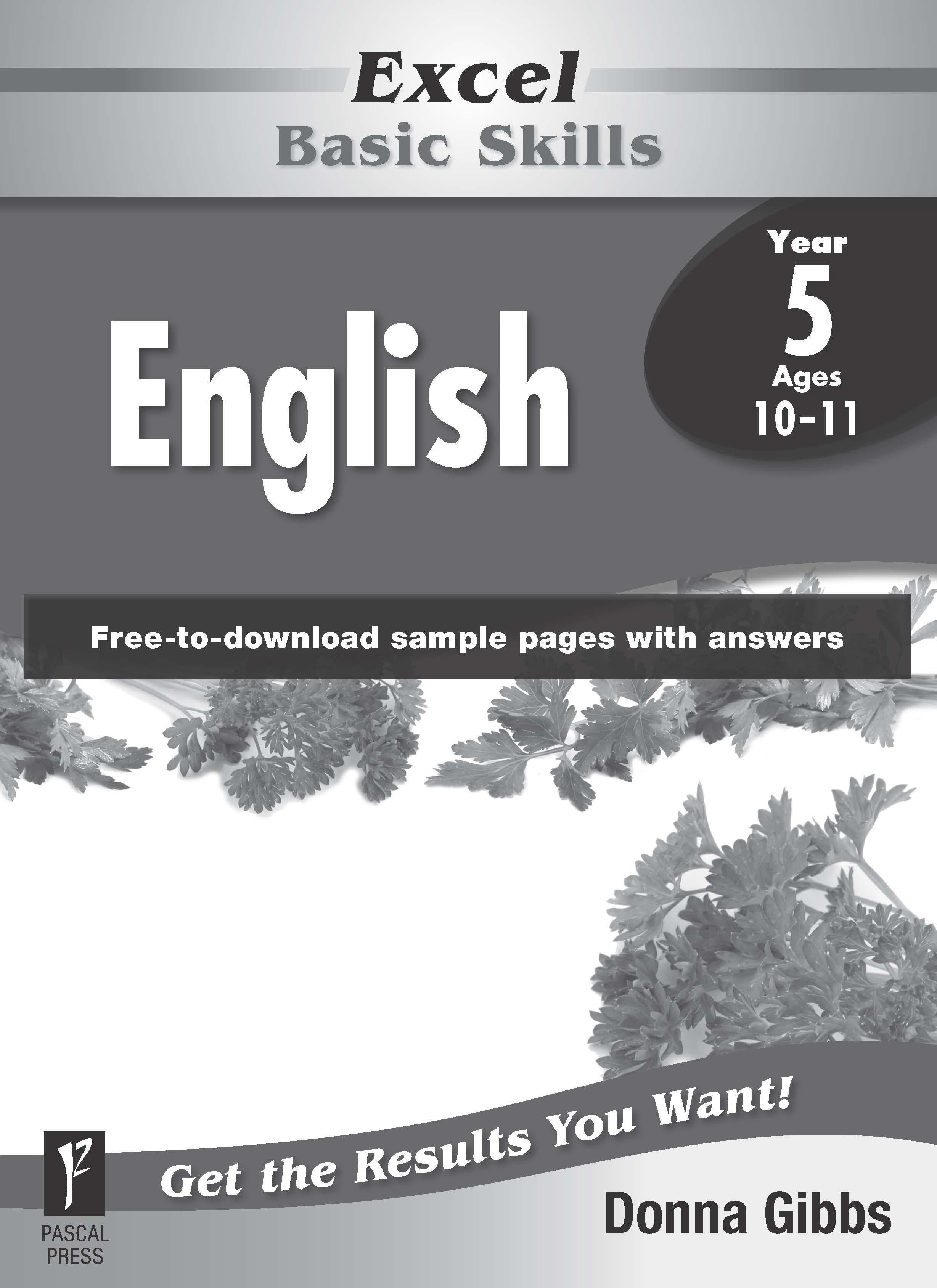 Excel Basic Skills English Year 5