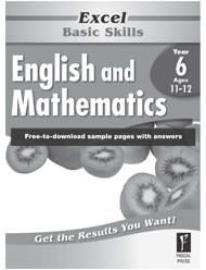Excel Basic Skills English and Mathematics Year 6
