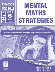 Excel Basic Skills Mental Maths Strategies Year 6