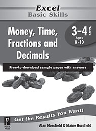 Excel Basic Skills Money, Time, Fractions and Decimals Years 3-4