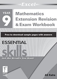 Excel Essential Skills Mathematics Extension Revision & Exam Workbook Year 9 Sample 2