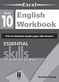 Excel Essential Skills English Workbook Year 10 Sample 2