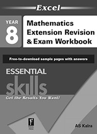 Excel Essential Skills Mathematics Extension Revision & Exam Workbook Year 8