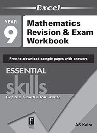 Excel Essential Skills Mathematics Revision & Exam Workbook Year 9 Sample 2