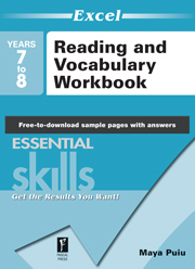 Excel Essential Skills Reading and Vocabulary Workbook Years 7-8