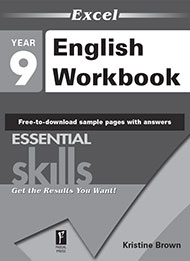 Excel Essential Skills English Workbook Year 9