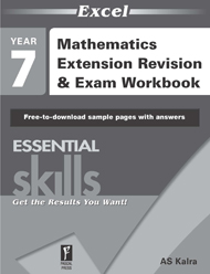 Excel Essential Skills Mathematics Extension Revision & Exam Workbook Year 7