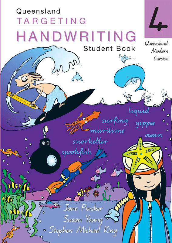 targeting handwriting qld student book year 4 pascal press. Black Bedroom Furniture Sets. Home Design Ideas