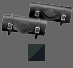 Suede Green/Black Braided Tool Bag