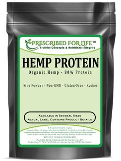 Hemp Protein - From Natural Organic Hemp - 80% Protein Powder