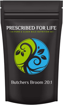 Butchers Broom - 20:1 Natural Root Powder Extract (Ruscus aculeatus)