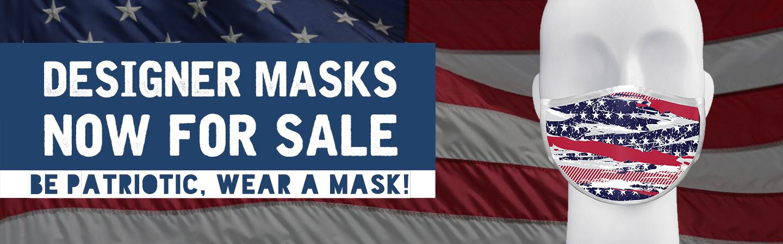 Designer masks now for sale