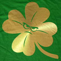 Gold Angry Clover Emoji