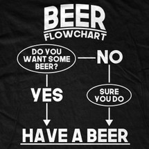 Beer Flow Chart T-Shirt