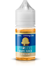 Proleve CBD Vape Juice - Cream - 1000MG